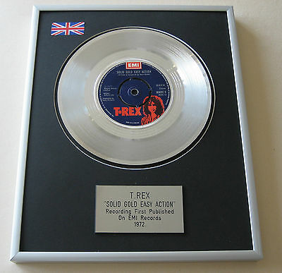 Marc Bolan T. REX Solid Gold Easy Action PLATINUM SINGLE DISC PRESENTATION