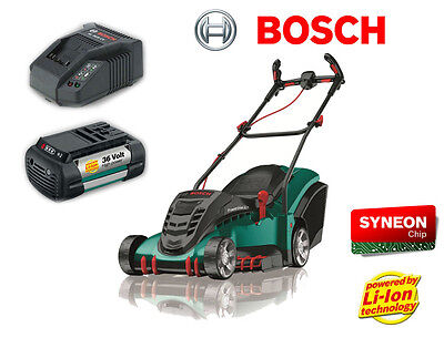 bosch cordless lawnmower 36li brand new r r p 349 new model with 4 0ah battery. Black Bedroom Furniture Sets. Home Design Ideas