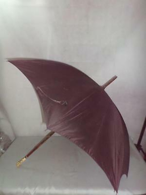 *Antique Umbrella 9ct Gold Collar London 1920 -Detailed Hand Carved Monkey Top*