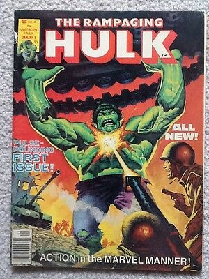 The Rampaging Hulk #1 Magazine 1977 Marvel VG Doug Moench Walt Simonson