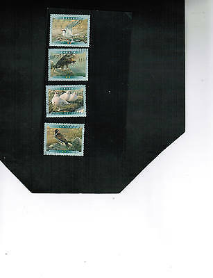 CANADA  2001   BIRDS  set of 4  cat  #1886-89   USED   LOT 451
