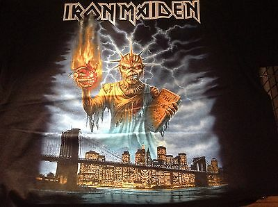 Iron Maiden Book Of Souls World Tour Official T Shirt Msg Nyc Size Xl