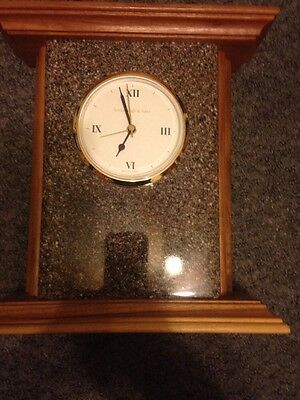 Schlabaugh & Sons Handcrafted Wood/Tile Mantel Clock ELEGANT CLASSIC Hand Made