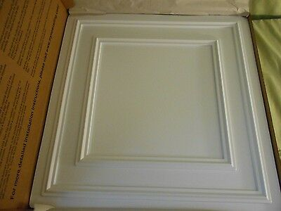 Ceilume 2' x 2' Ceiling Tile Square Design 6 Tiles Plastic