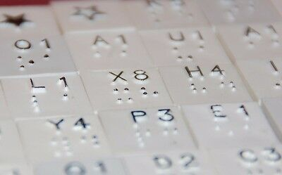 100 Braille Scrabble Letters - Complete! Great for replacements.