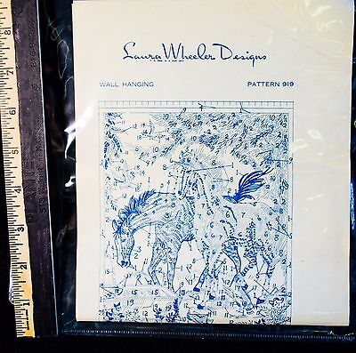 Vintage~Laura Wheeler Designs CROSS STITCH & EMBROIDERY # 919 Horse Wall hanging
