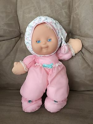 Vintage Puffalump Kids Merri GLOW Light Pink White Goodnight Baby Doll Plush 13""
