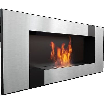 """FLAT"" Bio Ethanol Fireplace ""DELTA 2"" QUBE Wall mountable 2 YRS WARRANTY + GIFT"
