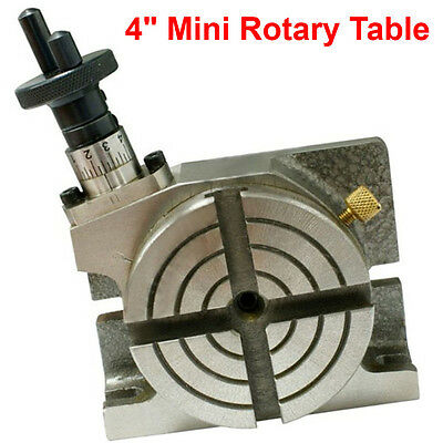 4 Inch 100Mm Metal Work Rotary Table Horizontal/vertical Diy Milling Multy Task