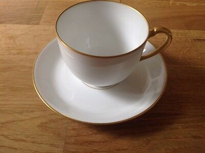 RARE OAC Okura of Japan 1 Cup & Saucer White with Gold Trim RARE