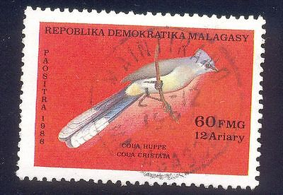 Malagasy 60Fm Used Stamp 30215 Coua Huppe Bird
