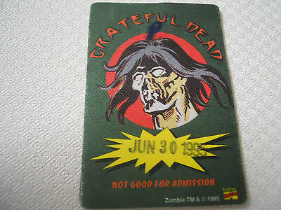 Grateful Dead - June 30, 1995 - 3 Rivers Stadium Pittsburgh satin backstage pass