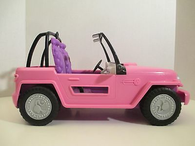 Barbie Hot Pink Beach Cruiser Surfer Car Jeep 2012 Mattel