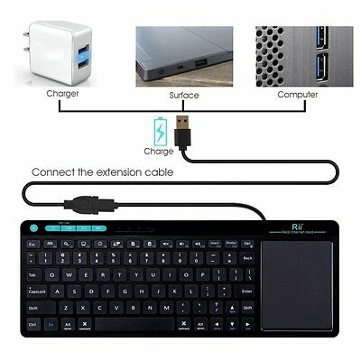 MINI WIRELESS BLUETOOTH Keyboard with Mouse TouchPad for PC