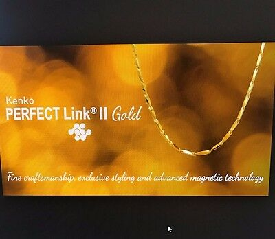 """Nikken Magnetic Jewelry Perfect Link Gold Necklace 18"""""""