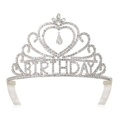 DcZeRong Birthday Tiaras and Crowns For Women Queens Birthday Party Pageant Prom