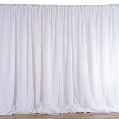 WHITE BACKDROP 20 8 ft Stage Party Wedding Tradeshow Photo Booth Decorations