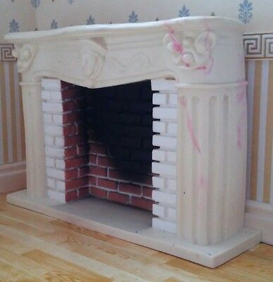 1/12th Scale Ornate Marble Fireplace