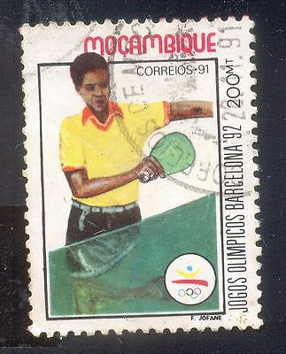 Mozambique 200Mt Used Stamp 31336 Table Tennis Jogos Olympia