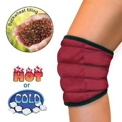 Hot Cold Knee Wrap Thermal Therapy Buckweat Arthritis Aches Pains Microwaveable