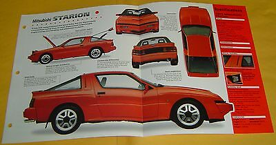 88 90 1989 Mitsubishi Starion 1997cc 4 Cylinder 145hp Turbo Info/Spec/photo 15x9