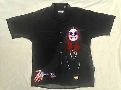 The Osbourne Family Ozzy Osbourne Button Up Men's Large Dragonfly Clothing Co.