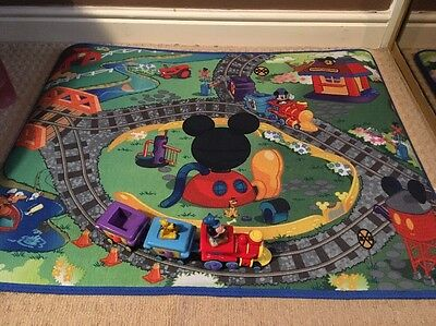 Disney Mickey Mouse Train Set Play Mat