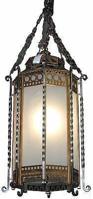 Massive Gothic Revival Pendant Light