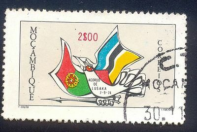 Mozambique 200$ Used Stamp 31763 Flag Bird