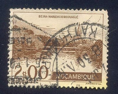 Mozambique 200$ Used Stamp 31627 Beira Margens Tower House River