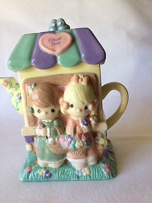 Vintage Precious Moments Flower Shop Tea Pot