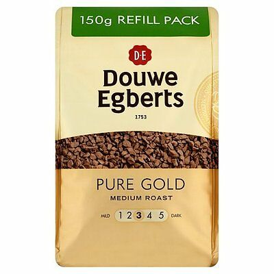 Douwe Egberts Pure Gold Instant Coffee Refill 150 g  Pack of 3
