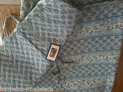 Longaberger 2001 PROVINCIAL PAISLEY FABRIC TRAVEL Garment BAG 5 PC SET