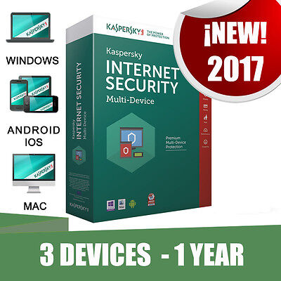 Kaspersky Internet Security Multi-device 3 Pc devices 1 year Original