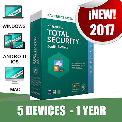 Kaspersky Total Security 5 Pc devices 1 year Original