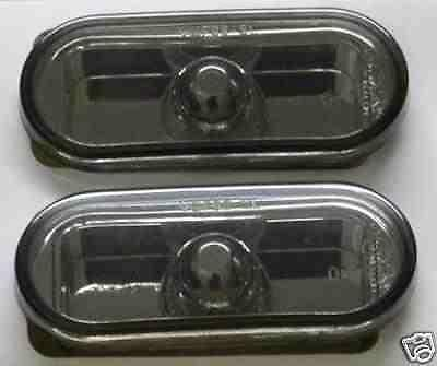 VW Lupo 1998 on Black Smoked Mirror Side Repeaters 1 Pair inc bulbs