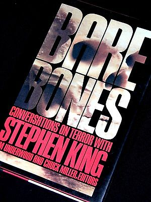 STEPHEN KING Bare Bones - Conversations in Terror 1988 US 1st/First hb dw