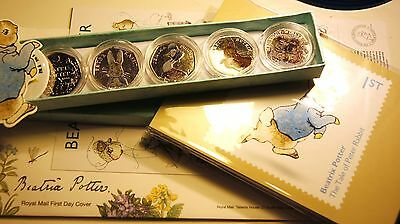 2016 Beatrix Potter Peter Rabbit FIRST DAY COVER + POSTCARDS (set of 11)2017 NEW