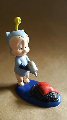 "Space Cadet Porky Pig 3.5"" applause statue figure pvc vintage rare looney toons"