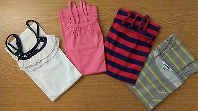 LOT Girls Tanks-Ralph Lauren,Tommy Hilfiger,DKNY-Sz 12/14/16 -White Pink Redblue