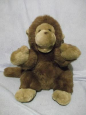 "11"" Yes Club Brown Plush Monkey with tags - very clean - A & A Plush"