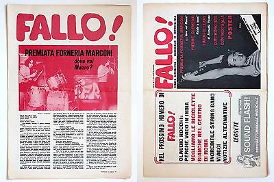 FALLO ! n 6 - T. LEARY, SESSO DROGHE ROCK  JAZZ - M. PAGANI  UNDERGROUND  POSTER