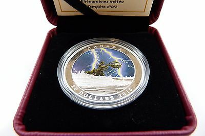 2015 $20 Fine Silver Coin - Weather Phenomenon Summer Storm -Royal Canadian Mint