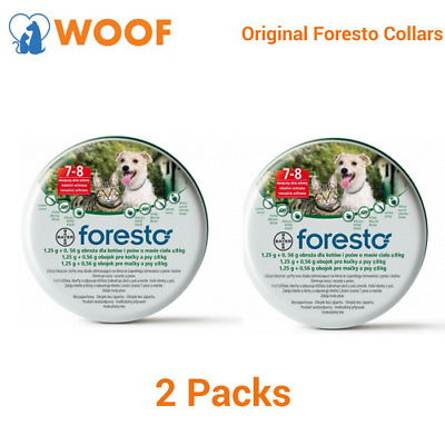 2Seresto/Foresto Flea&Tick Collar 38cm Collar For Small Dogs/Cats -2PACK