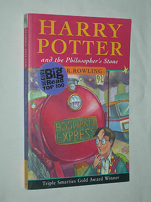 Harry Potter and the Philosopher's Stone J K Rowling 1st First edition pb UK