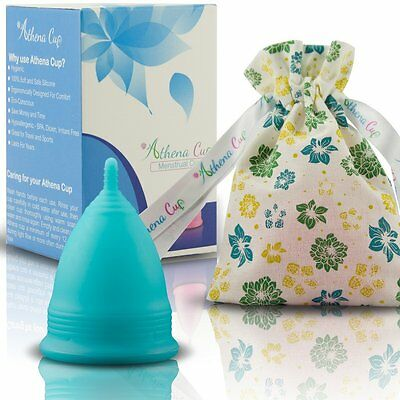 Athena Menstrual Cup - #1 Recommended Period Cup Includes Bonus Bag - Size 2, So