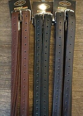 "Henri de Rivel Triple Covered Close Contact Stirrup Leathers 48"" 54"" 60"""