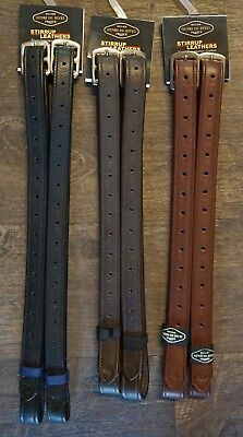 Henri de Rivel Triple Covered English Stirrup Leathers Dressage Hunter Jumper