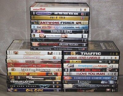 Lot of 30 Assorted Cinema DVD COMEDY/ ACTION/ HORROR/ THRILLER