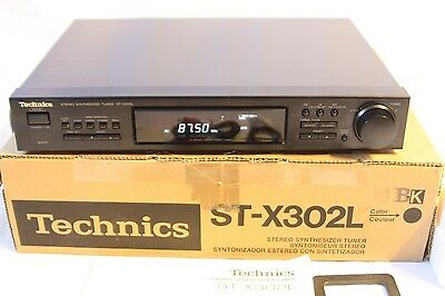 Boxed Vintage Technics ST-X302L Stereo Synthesizer Tuner FM AM LW